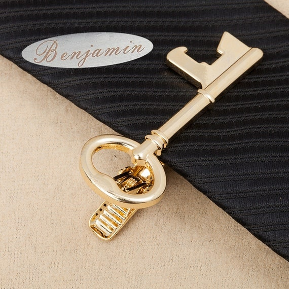 signature tie clip,engraved tie clip,Skeleton Key Tie Bar,locksmith  Tie Clip,Personalized Tie Clip ,Men's Wedding Accessories,Skinny Tie