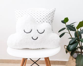 Cute Cloud Pillow Gender Neutral Nursery Decor Gift-for-Mom Nursery Pillow Baby Cloud Sleepy Eyes Pillow Cloud Cushion Christmas Plush Toys