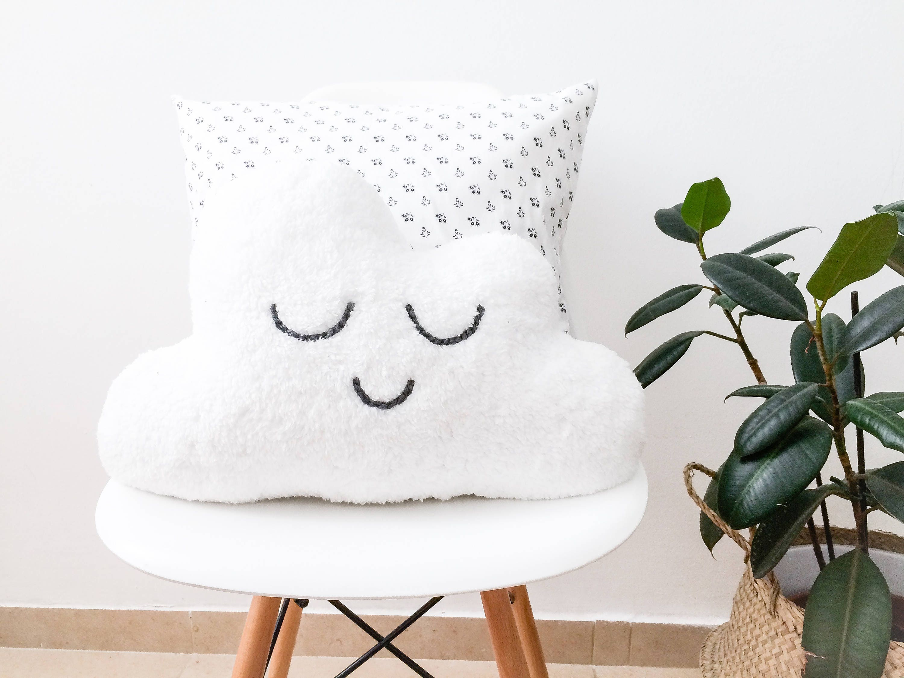 Cute Cloud Pillow Gift-for-Mom Nursery Pillow Baby Cloud