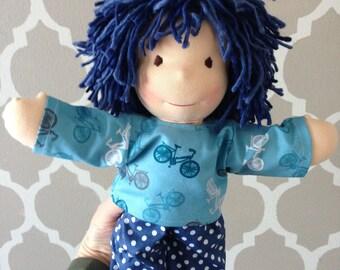 """New Handmade Waldorfdoll Waldorf Cloth Doll Boy """"Max"""" 14"""""""
