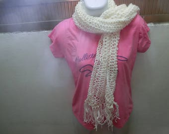 Woven scarf with two needles