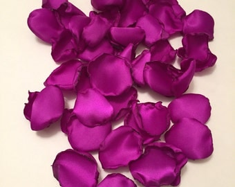 Purple Rose Petals/Magenta Petals/Purple Wedding Decor/Dark Purple Petals/Country Wedding Decor/Southern Chic Wedding/Purple Wedding