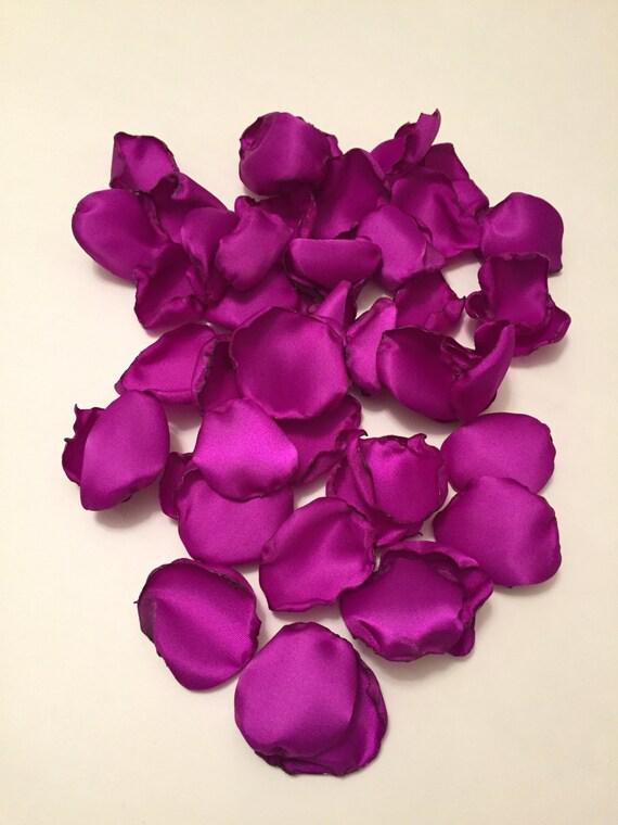 Purple Rose Petals Magenta Petals Purple Wedding Decor Dark