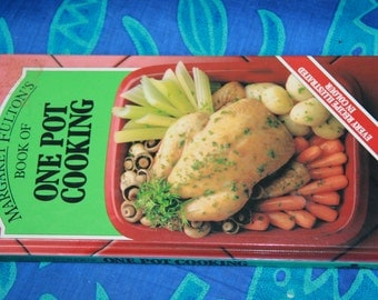 Margart Fulton  1983 vintage recipe book vintage cook book hard cover ONE POT COOKING vintage cookbook