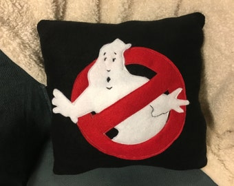 Ghostbusters Pillow, Ghost Pillow, Felt movie pillow, ghostbusters,