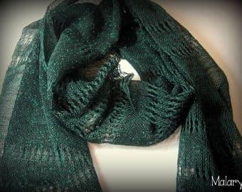 Handwoven Green Lace Summer Esharp Shawl Scarf Kerchief