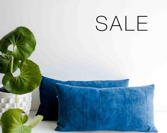 "Sale! Indigo  Mudcloth Pillow Cover | 12"" x 24"""