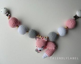 Stroller mobile, Chain for stroller, Pram chain, Crochet pram decoration