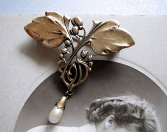 Beautiful delicate Brosche-Art deco-Art Nouveau-vintage Brosche-very nicely to the costume or Castle Festival, Victorian, Edwardianisch