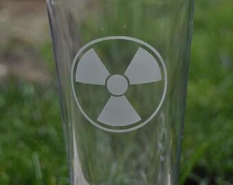 Radiation Pint Glass