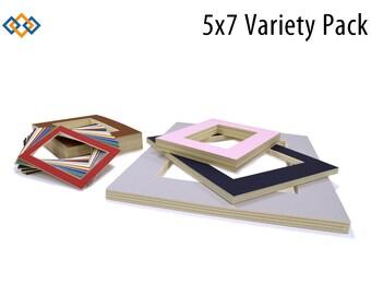 5x7 Photo Mats Variety 20 Pack - (CREAM CORE)