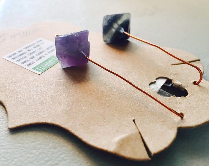 Geometric Fluorite Stone Threaders