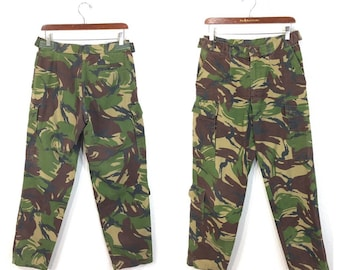 euro vintage camouflage pants german army military cargo pants w31