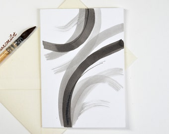 Greeting card painted hand-ink of China-abstract-Illustration-graphic-envelope-gift for woman-birthday-Christmas-holidays-A offer