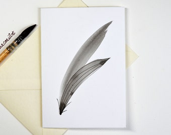 Greeting card painted hand-ink of China-abstract-Illustration nature-envelope gift for woman-birthday-Christmas-holidays-A offer