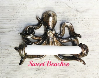 16 colors Octopus Toilet Paper Holder Beach Seaside Resort Nautical Ocean Sea Decor
