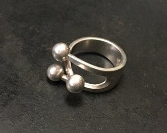 Mid Century Modern sterling ring from Norway by Anna Greta Eker