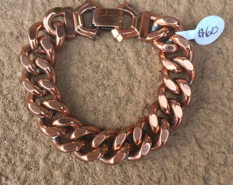 Solid Copper Chain Link Bracelet