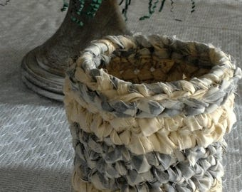 Fabric Bowl, Fabric Basket, Crocheted Bowl, Crocheted Basket, Crocheted Rag Bowl, Rag Rug Bowl and/or Basket