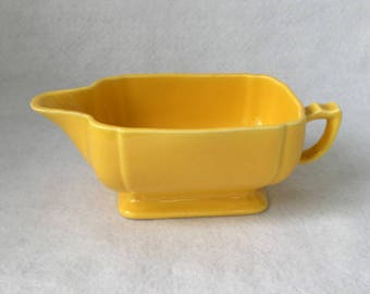 Vintage Homer Laughlin Riviera Yellow Sauce Boat