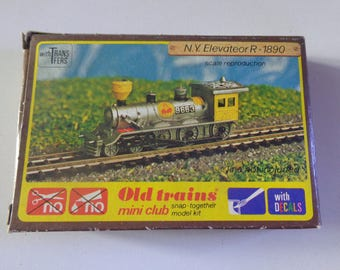 Old Trains Mini Club Snap Together Kit N.Y Elavateor R 1890 Scale Reproduction boxed