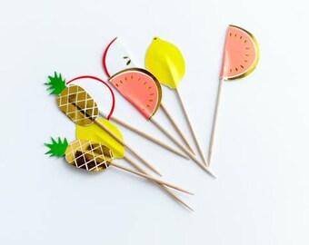 24 Fruit Party Picks - Meri Meri - Free shipping