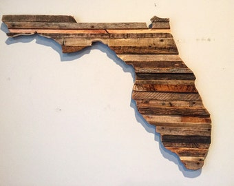 Reclaimed Moasic Florida Sign