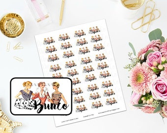 Printable Ladies Bunco Night Planner Stickers
