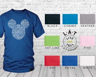 Mickey Head Ears Disney Inspired Word Art Shirt | Custom Disney Family Shirts | Custom Disney Trip Shirt | Matching Disney Shirts