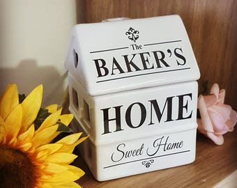 Personalised Home Sweet Home Ceramic Burner