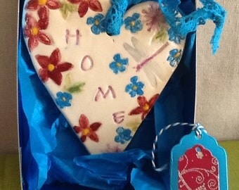 """Mother's Day, house warming, wedding gift heart """"home"""""""