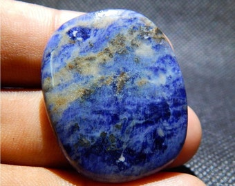 37.4cts Natural Sodalite Cabochon, Blue Sodalite Stone Cabochon, Loose Stone, Sodalite Gemstone Cabochon, Loose Gemstone  DG1873