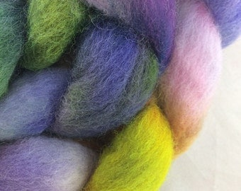 Violets and Succulents: Hand-Dyed Cheviot
