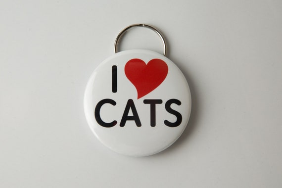 I love Cats Keychain/bottle opener