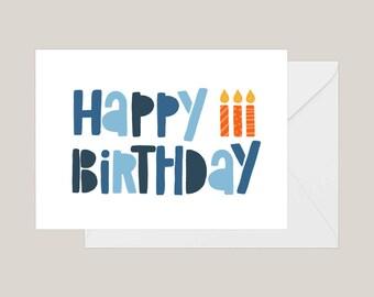 Printable Happy Birthday Card | Greeting Card | Birthday Card | | First Birthday Card | A2 Card | Kids Birthday Card | Cute Birthday Card
