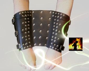 Extra wide, forearm cuffs wrist cuffs