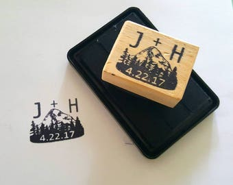 Custom Stamp - completely costomizable - wedding stamp - design help available - free shipping