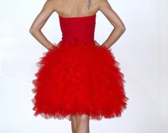 Tütü red tulle skirt