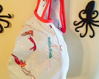 Ready to go / bag type wetbag for child / child bag / bag/mermaid/whale/whale/Mermaid kid