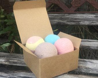 Four Bath Bomb Gift Set (Moisturizing Bath Bombs, Love Lush)