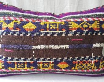 "Hand Made Lumbar  Kilim Pillow Cover  Size:1'3""2'0"" 40cm ×60cm  Kilim Pillow Cover"