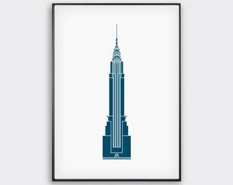 Chrysler Building, Minimal, New York Print / New York Artwork