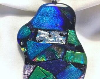 Fused glass pendant P57