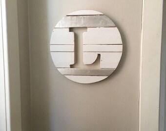 "Monogram wood sign L 16"""