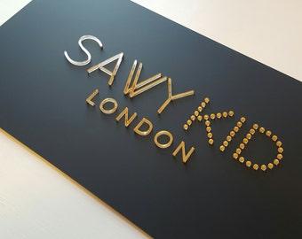 acrylic signage (logo)