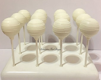 1 Dozen White Cake Pops with High Quality Ingredients. Cake Balls. Party Favors. Dessert Table. Baby Shower. Bridal Shower.