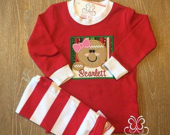 Personalized Christmas Pajamas - Christmas Pajamas for Children - Christmas Pjs - Girls Christmas PJs - Girls Christmas PJs