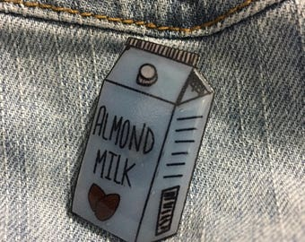 Almond Milk Carton Pin