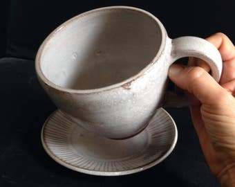 Pearly White Cup and Saucer