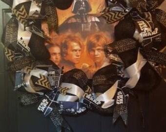 Star Wars Burlap Wreath